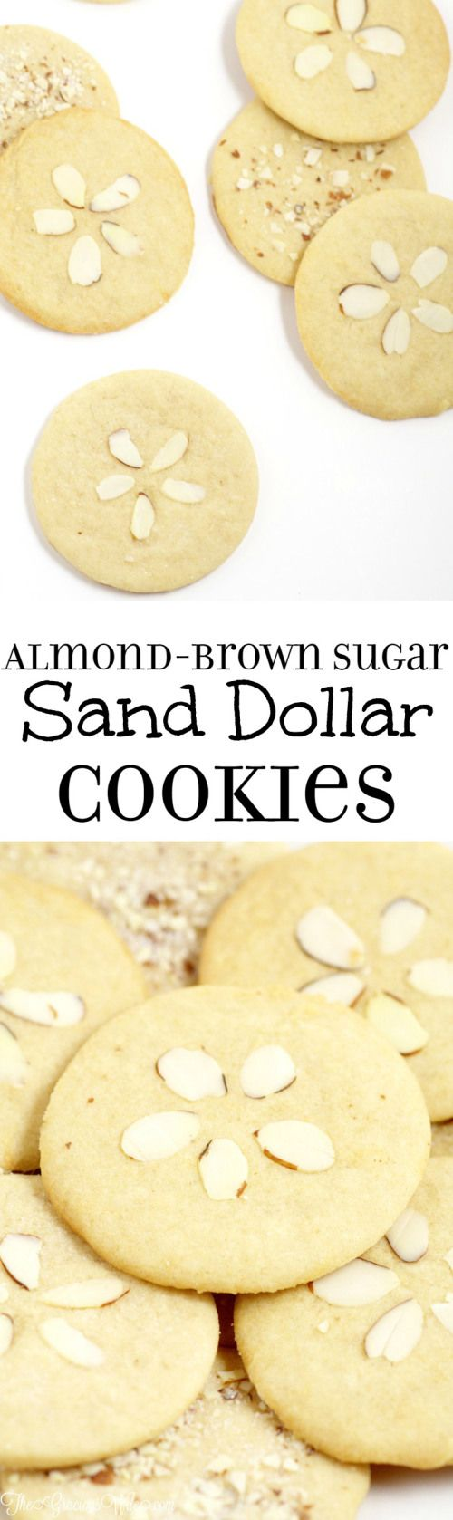 Sand Dollar Almond Brown Sugar Cookies Recipe - an easy cookies recipe from scratch. These are just like sugar cookies, only better!