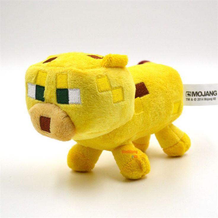 24 cm Minecraft Plush Toys Yellow Minecraft Ocelot Stuffed Cat Animal Plush Toys Genuine JJ Dolls Game Cartoon Kids Toys Gifts