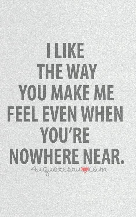You make me feel sexy