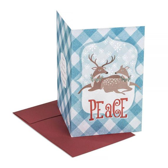 Peace  winter holidays card