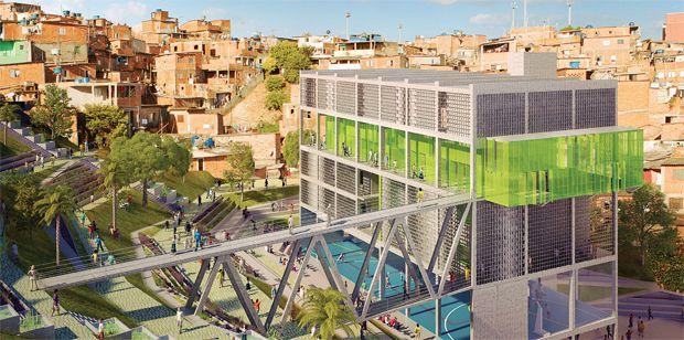 Centro Comunitário Multifuncional da Favela de Paraisópolis ganha prêmio do Global Holcim Awards 2012