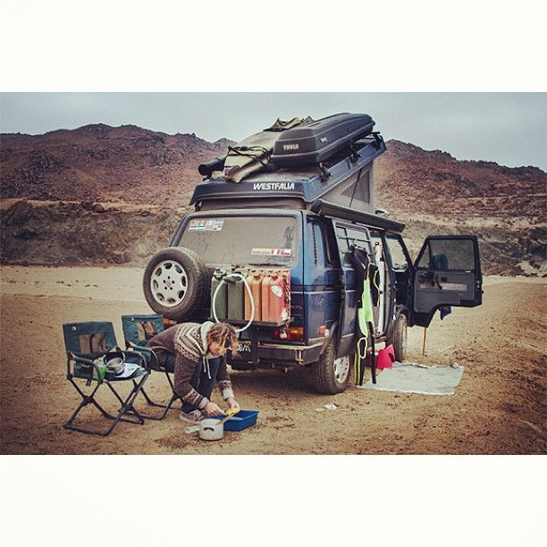 ouropenroad:  This is #vanlife. I've washed the dishes in worst places.