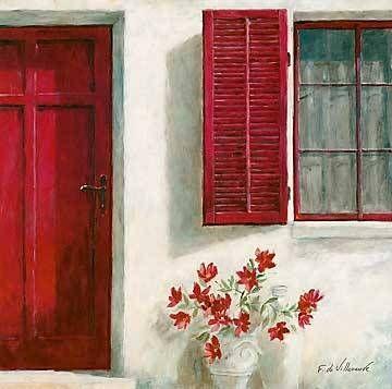 Fabrice De Villeneuve - Ruby Doorway