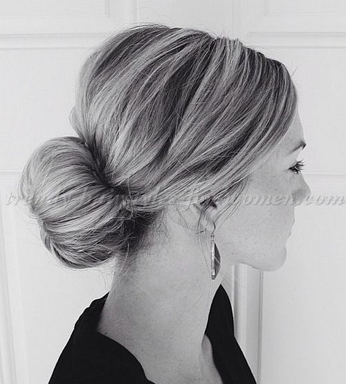 chignon+hairstyles,+low+bun+hairstyles+-+sock+bun