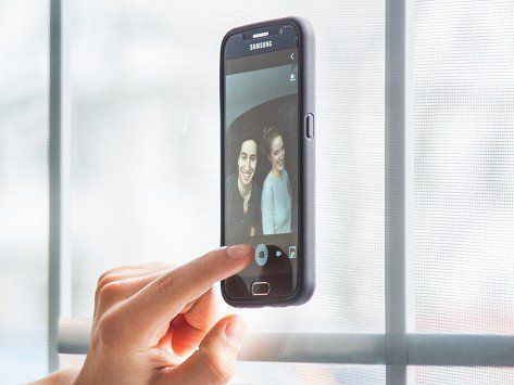 Mega Tiny's Samsung Galaxy cases, discovered by The Grommet, stick to flat, smooth surfaces without feeling sticky—thanks to thousands of tiny suction cups.