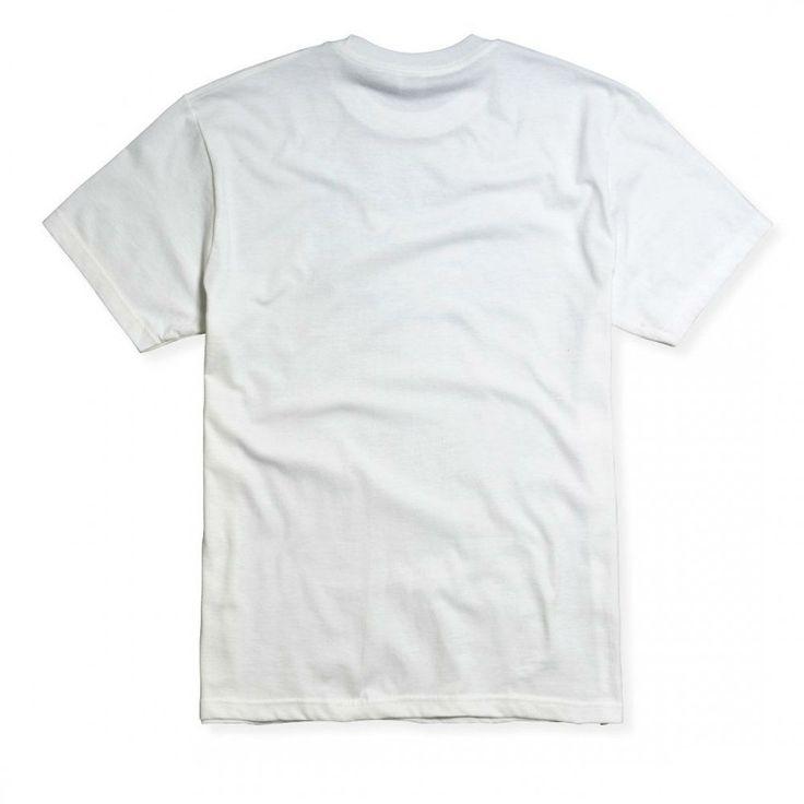Мужская однотонная футболка белого цвета