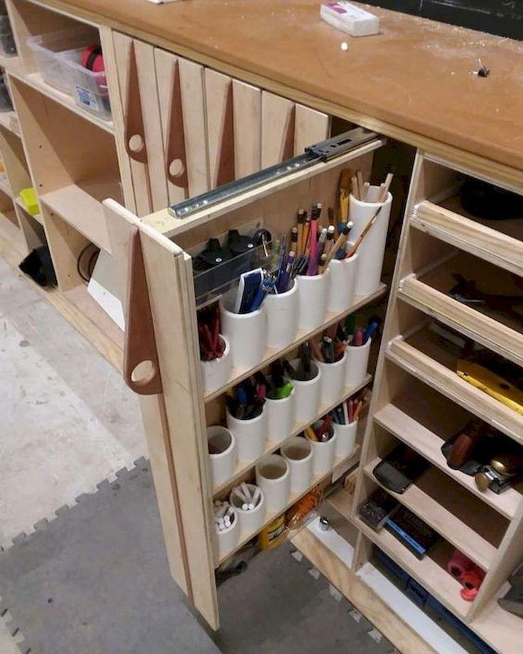40 Inspiring Diy Garage Storage Design Ideas On A Budget 25 Doityourzelf Muebles Para Herramientas Organizacion De Taller De Carpinteria Mesas De Trabajo