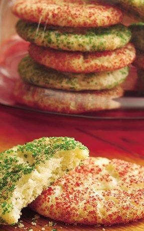 Holiday Snickerdoodles. I remember making these as a little kid. Delicious! Just a normal snack every then and there. Really easy to make! Find a basic sugar cookie or snicker doodle recipe, then sprinkle red or green colored sugar on top!