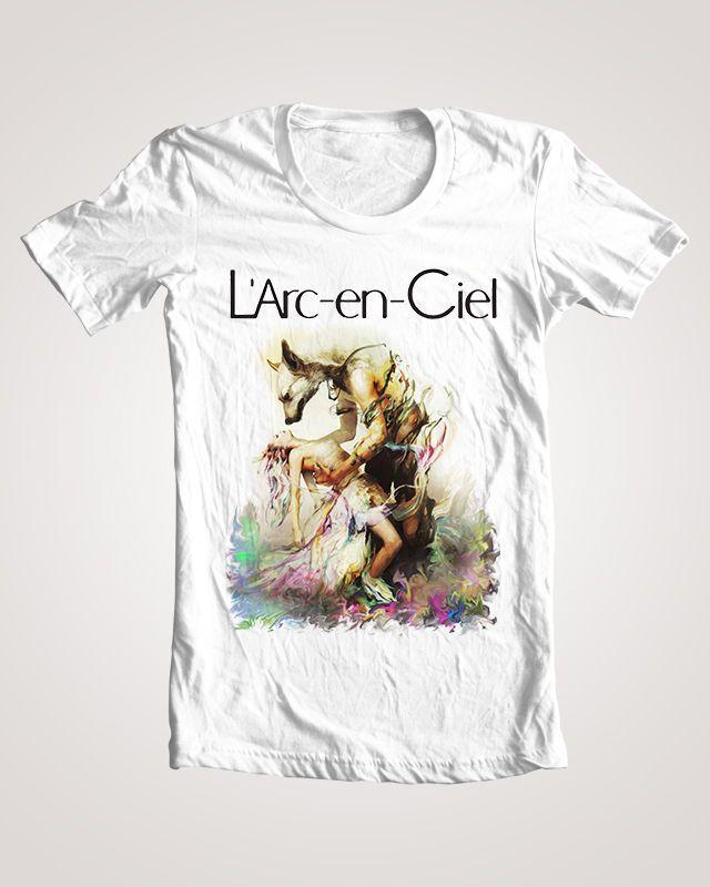 L'Arc en Ciel Logo Album Chase T Shirt One Ok Rock The Gazette Tokyo Jihen Hyde #Handmade #BasicTee