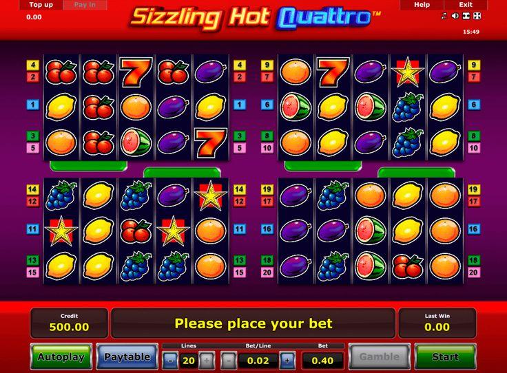 Sizzling Hot Quatro ist ein sehr ungewöhnlicher Spielautomat von #Novomatic, das du dir vorstellen kannst! Dieses Glücksspiel besteht aus 4 Bildschirmen mit Walzen. Jeder Bildschirm des Slots verfügt über 5 Walzen und 20 Gewinnlinien. Aber im Ganzen, hat das Spiel #SizzlingHotQuatro ein klassisches Design.