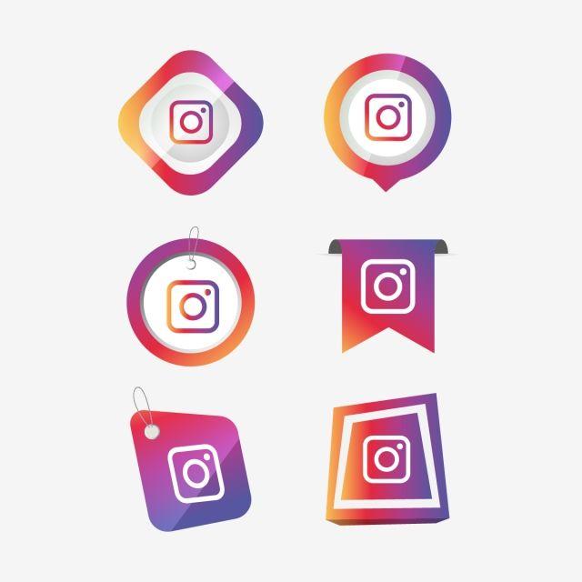 Instagram Insta Icon Logo Collection Set Social Media Vector