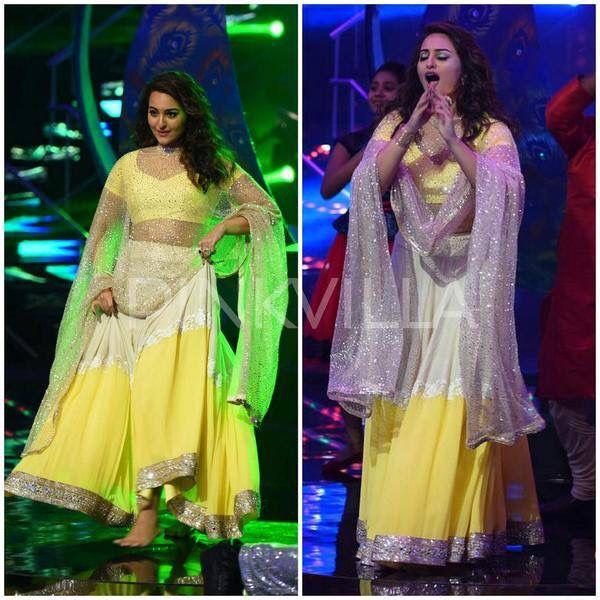 Sonakshi Sinha in Manish Malhotra's #yellow #Spring2015 creation