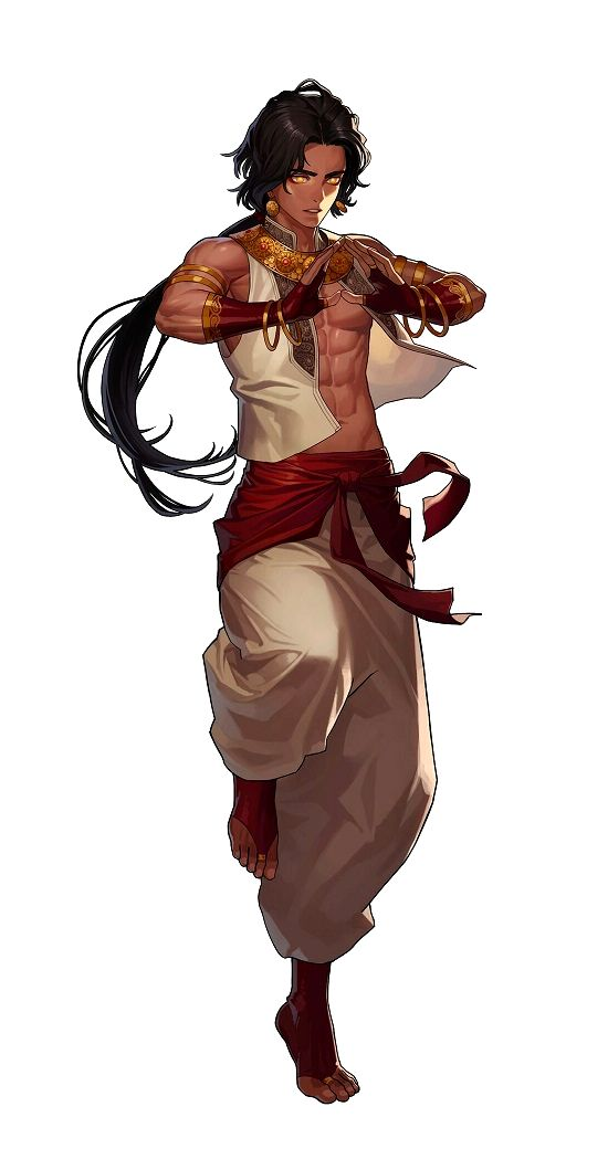 Human Male Monk - Pathfinder PFRPG DND D&D d20 fantasy