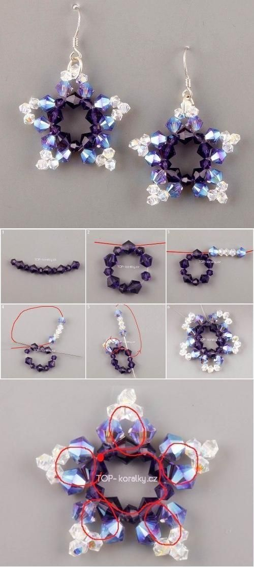 DIY Beads Star. This is cool and is totally make one, if I weren't so lazy...