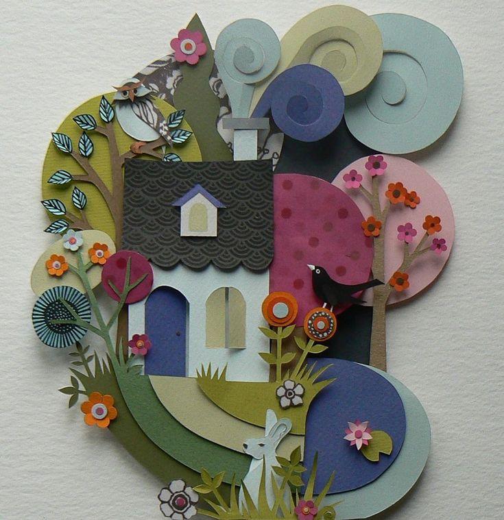 Paper Artwork by Helen Musselwhite ~ Svnserendipity: Art & Design Blog.