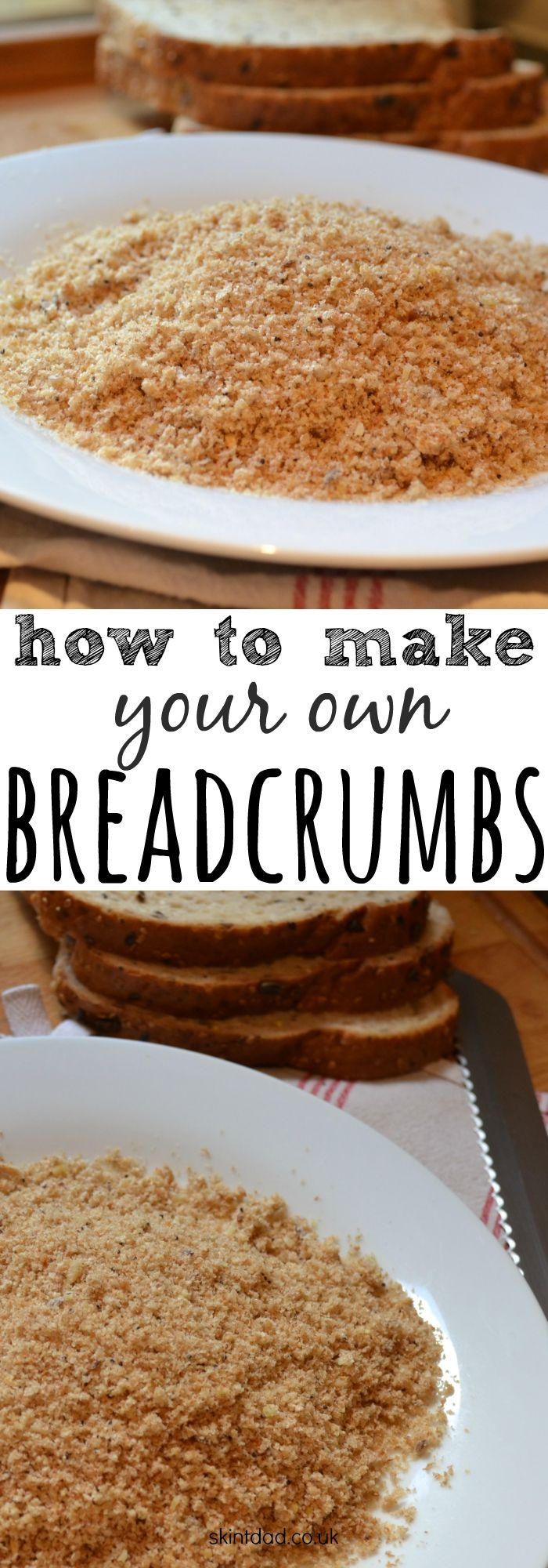 Instead of wasting your bread and throwing it in the bin, use it to make your own breadcrumbs instead and save a bit of cash in the process.