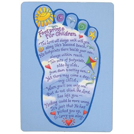 105 best christian gift for kids images on pinterest christian footprints prayer card for kids negle Gallery