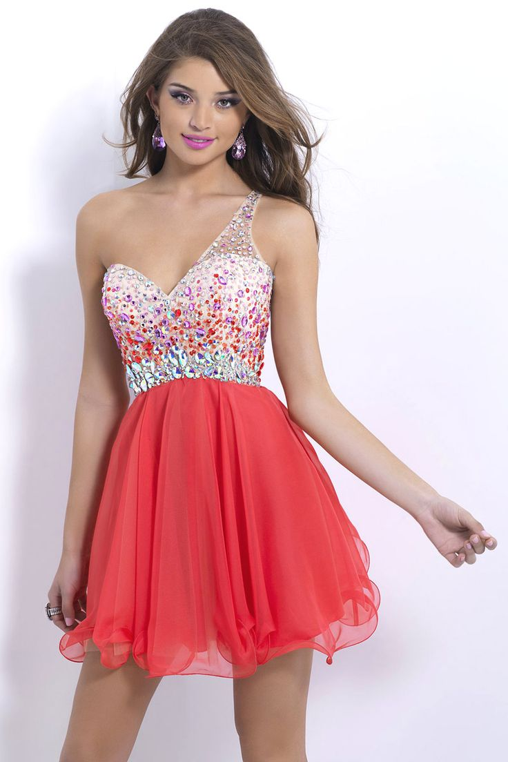 Cut Out Short Red Prom Dresses