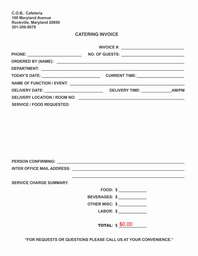 Free Catering Invoice Template Luxury Catering Invoice Templates 10 Different Formats In Pdf Invoice Template Schedule Template Templates