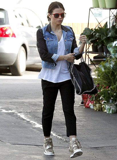 Jenna Dewan-Tatum wore cute but comfortable Ash wedge high tops for a Jan. 7 outing in Los Angeles.