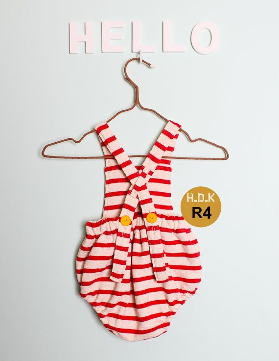 kids sewing pattern pdf Retro Baby Toddler Romper by hellodearkids
