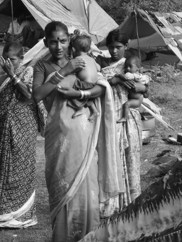 """Authentic Indian Gipsys""""s with their babies.."""