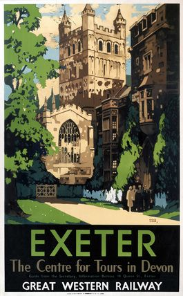 'Exeter', GWR poster, 1923-1947. by Carr, Leslie at Science and Society Picture Library