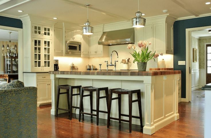 center hall colonial kitchen ideas - Google Search More