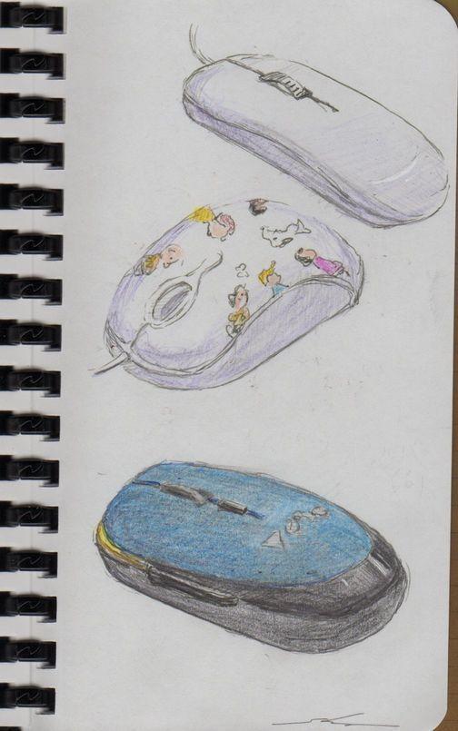 マウス色々2(会社でスケッチ) の画像|浮世のスケッチブック