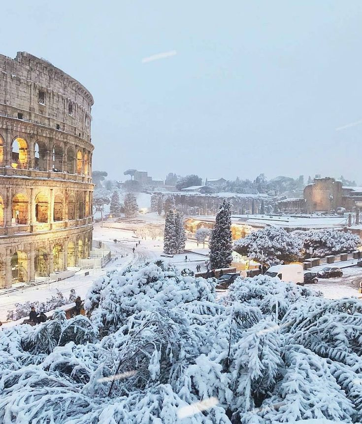 италия зимой фото протяжении