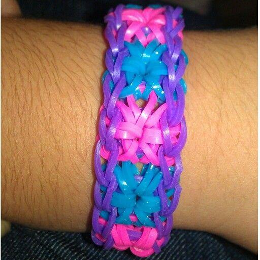 how to make a starburst loom band bracelet
