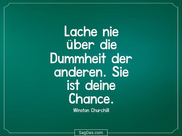 Lache nie über die Dummheit der anderen. Sie ist deine Chance.