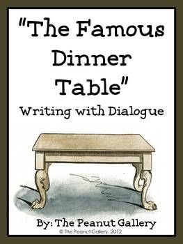 FREE- Students have so much fun writing narratives in which they invite famous guests to dinner. Imagine the conversation between George Washington and Justin Bieber! This would be a perfect activity during a unit on dialogue.