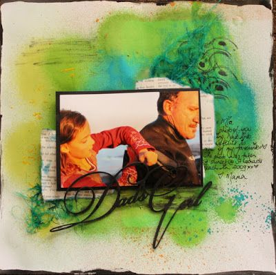 "Hi everyone, Marelle back with a layout using the gorgeous Memory Maze ""Dads…"
