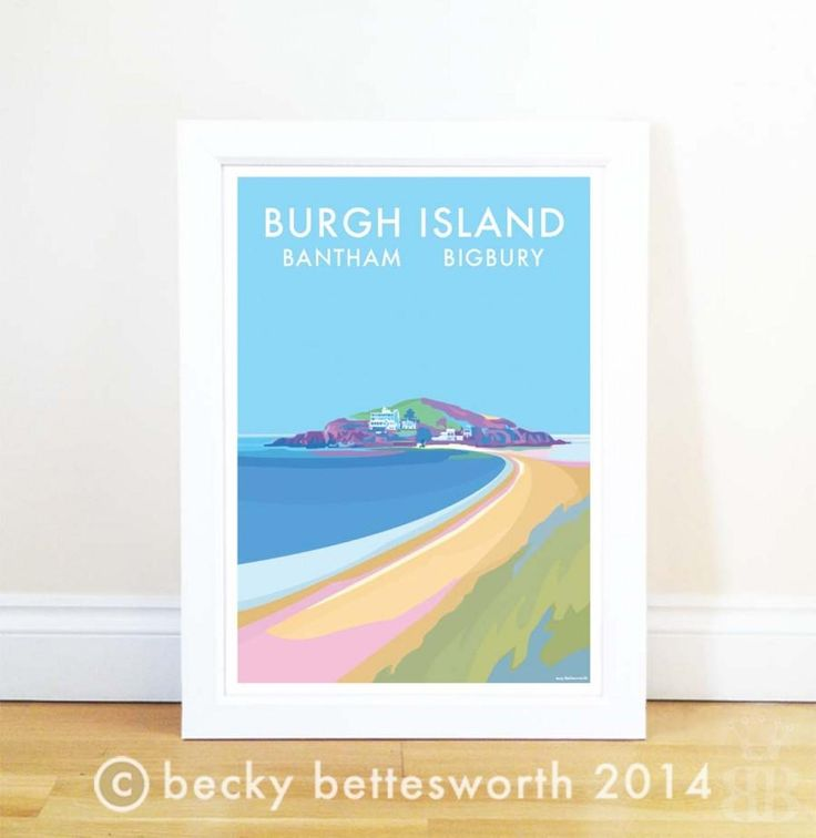 Seaside posters by Becky Bettesworth