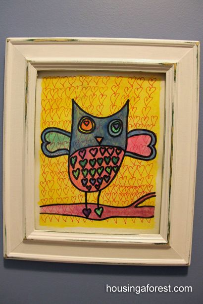 Valentine Owls art project for kids <3