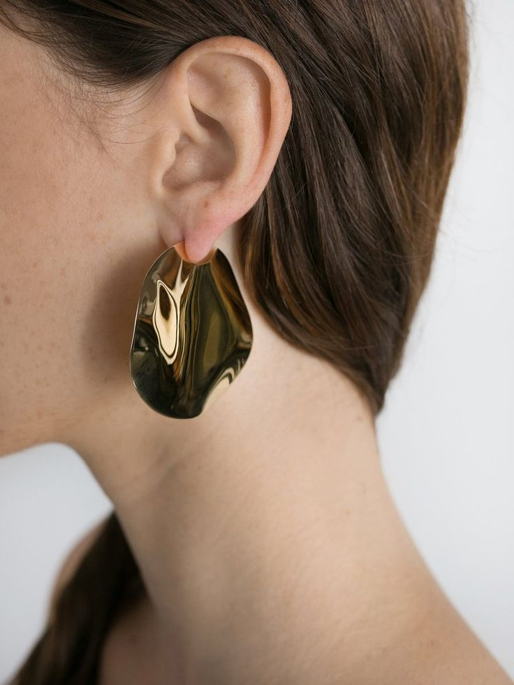 HOLLY RYAN | Large Wavee Earrings 18k Gold Plated | The UNDONE by Holly Ryan