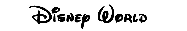 Walt Disney World Font
