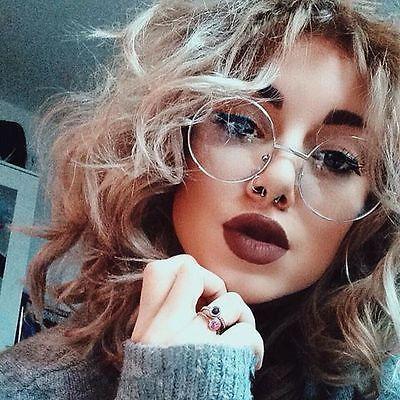 "Oversized ""MALINA"" XL Large Big Round Circle Thin Metal Frames Eye Glasses Specs"