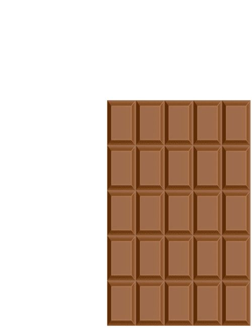 Endless Chocolate If you cut a chocolate bar 5 on 5 and rearrange all the pieces in the order shown, then, out of nowhere, there will be an extra piece of chocolate. The same can be done with the usual chocolate and make sure it is not computer graphics, and is an existing puzzle!! CJWHO: facebook | twitter | pinterest | subscribe
