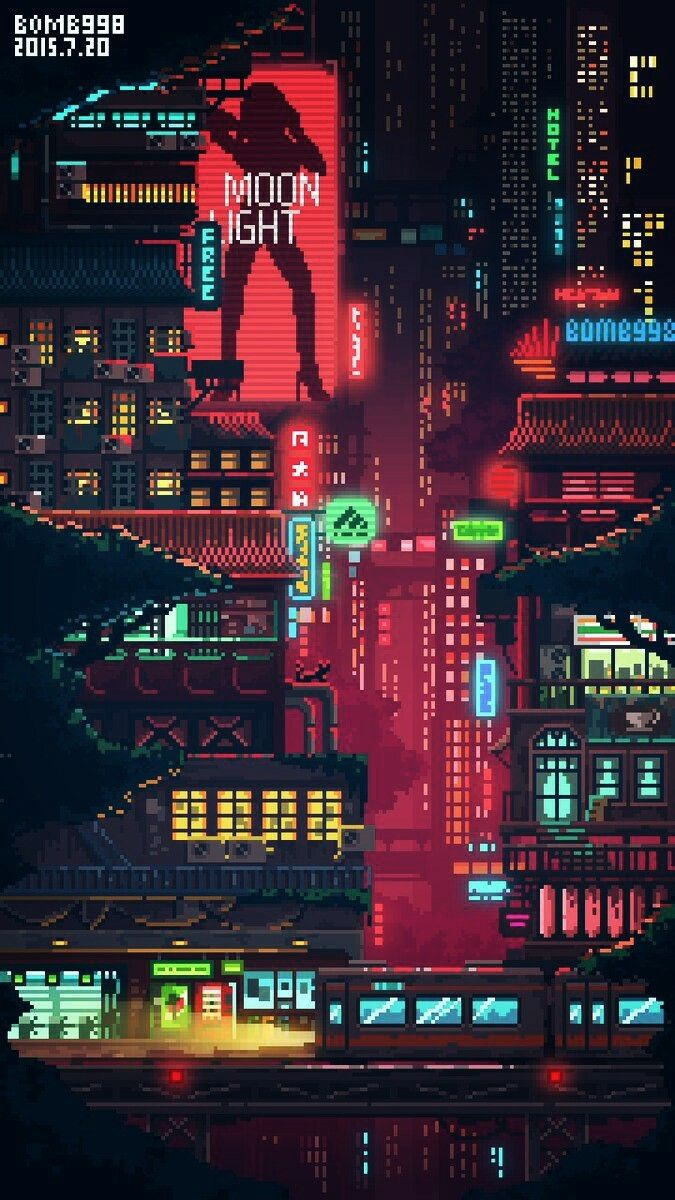 Pin By Lex S On Pixel Backgrounds Pixel City Pixel Art