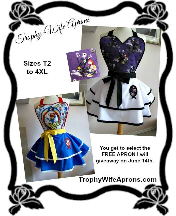 Winner # 19 was Natalia Chamorro from Tucson, AZ, USA - ☀ ☀ I regularly giveaway a FREE Funky Hostess Apron ☀ ☀  CLICK here for details==> www.facebook.com/TrophyWifeAprons