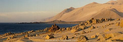 Coastline of Atacama Desert south of Antofagasta