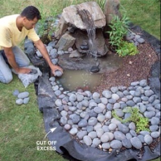 Do it yourself fish pond cute gardening pinterest for Do it yourself pond