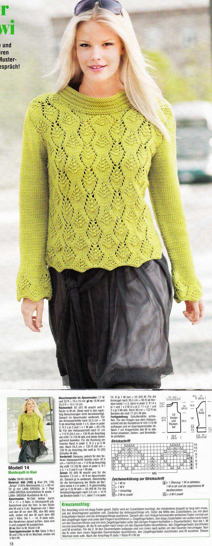 Kira knitting: Knitted blouse no. 52