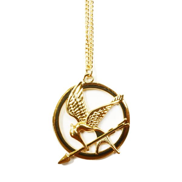 18 necklace free pinterest hunger games mockingjay pendant get this free just pay shipping and handling for mozeypictures Images