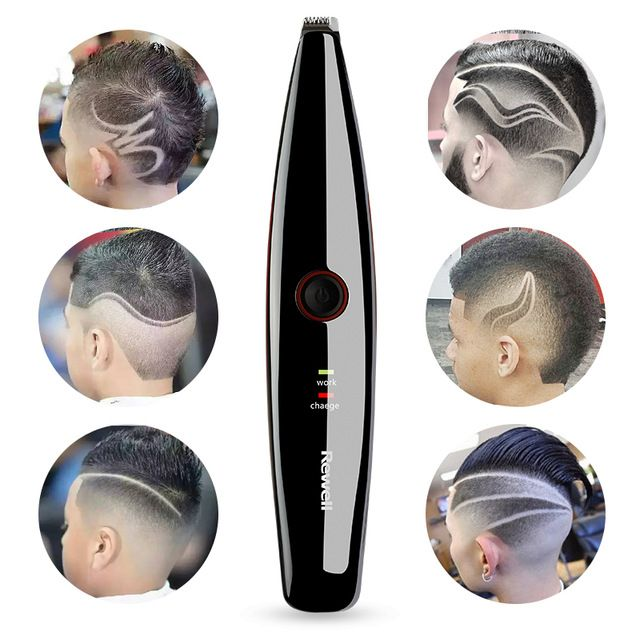 Electric Rechargeable Lettering Hair Trimmer for Men Baby 1760 Stainless Steel Cutter Carving Hair Clipper Barber Styling Tools