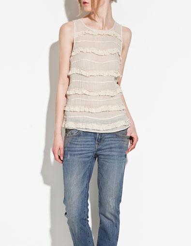 BODY WITH FRILL - Shirts - TRF - ZARA United States $25.99: London Wishes, Zara United States, U.S. States, States 25 99