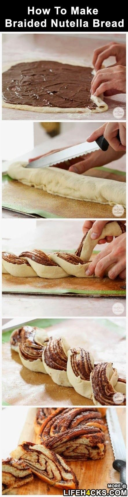 Braided Nutella Bread - The source for this pin had no recipe, so I linked it to gluten free on a shoestring's braided nutella recipe. (Use homemade nutella to make soy free. A good homemade nutella recipe can be found here: http://www.bonappetit.com/recipe/better-than-nutella-chocolate-hazelnut-spread ) #FinlandiaButter and #GotItFree