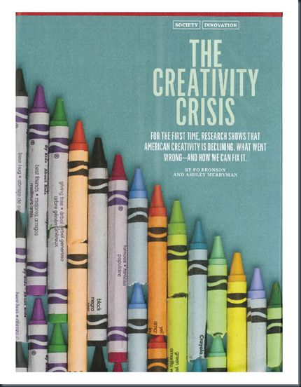 not a humor piece - the decline in creativity and the implied consequences.  Must read - interesting too!
